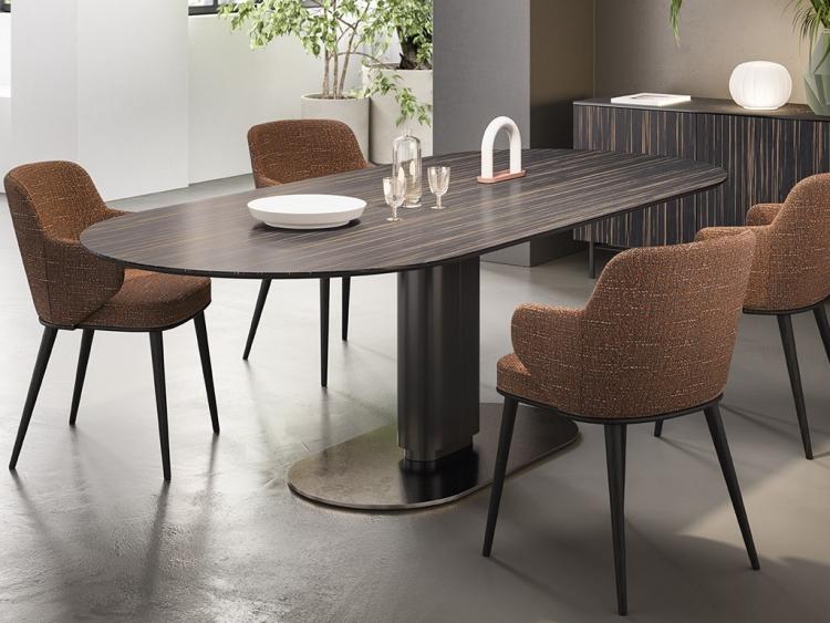 Cameo τραπέζι οβάλ ξύλινο Calligaris