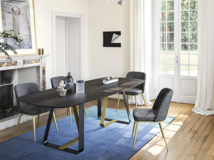 Sunshine τραπέζι οβάλ με ξύλο Calligaris