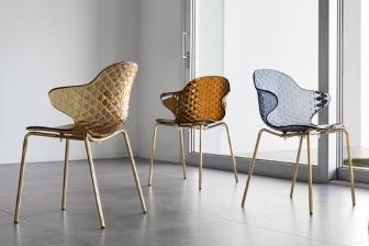 Saint Tropez καρέκλα με μεταλλικά πόδια Calligaris