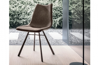 Μαγιορκα καρέκλα με μεταλλικό πόδι