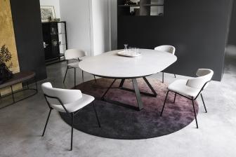 Atlante στρογγυλό τραπέζι με κεραμικό Calligaris