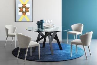 Jungle στρογγυλό τραπέζι με κρύσταλλο Calligaris