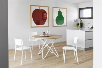 Stellar στρογγυλό τραπέζι κουζίνας Calligaris