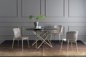 Stellar στρογγυλό τραπέζι με κεραμικό ή ξύλο Calligaris