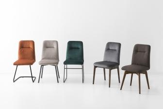 Greta καρέκλα με βελούδο Connubia by Calligaris