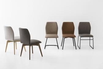 Hexa καρέκλα με μεταλλικά και ξύλινα πόδια Connubia by Calligaris