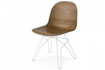 Academy καρέκλα με ξύλινο κάθισμα Connubia by Calligaris