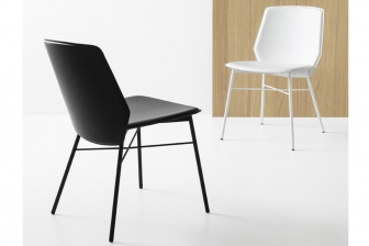 Sibilla καρέκλα με μεταλλικά πόδια Connubia by Calligaris
