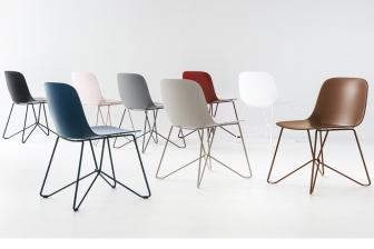Vela καρέκλα με πλεκτά μεταλλικά πόδια Calligaris