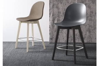 Αcademy Wood σκαμπό Connubia by Calligaris