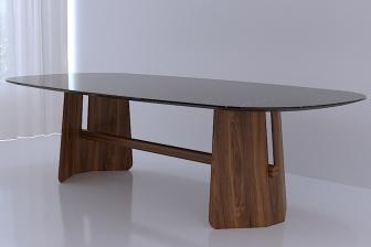 Esc plus οβαλ τραπέζι με κεραμικό