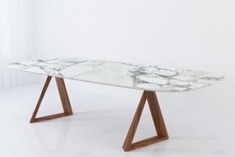 Angel τραπέζι οβάλ με κεραμικό