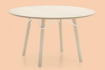 Tria στρογγυλό τραπέζι κουζίνας Connubia by Calligaris