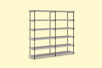 Libra 3 και 4 βιβλιοθήκη με μεταλλο Connubia by Calligaris