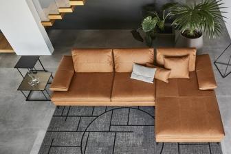 Landa διθέσιος, τριθέσιος και γωνιακός καναπές Calligaris