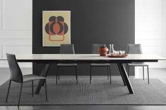 Ponente τραπέζι με κεραμική πέτρα ή μάρμαρο Calligaris