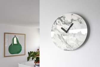 Moon ρολόι με κεραμικό μάρμαρο Calligaris