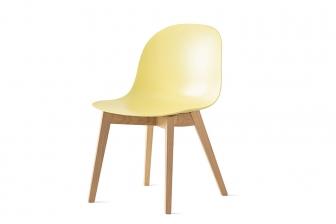Academy καρέκλα με ξύλινα πόδια Connubia by Calligaris