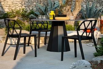 Dix τραπέζι στρογγυλό Connubia by Calligaris