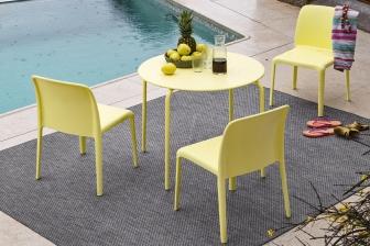 Easy τραπέζι κήπου στρογγυλό και τετράγωνο Connubia by Calligaris