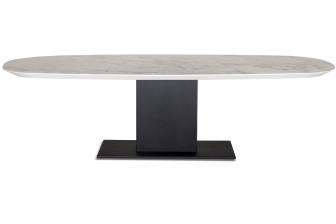 Plusone τραπέζι με μεταλλικό πόδι