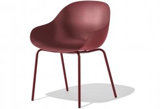 Academy καρεκλοπολυθρόνα με 4 μεταλλικά πόδια Connubia by Calligaris