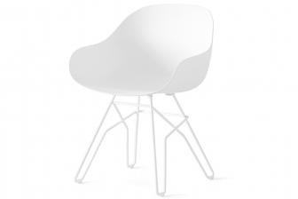 Academy καρεκλοπολυθρόνα με πλεχτό πόδι Connubia by Calligaris