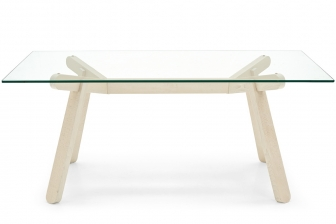 Peeno τραπέζι με κρύσταλλο Connubia by Calligaris